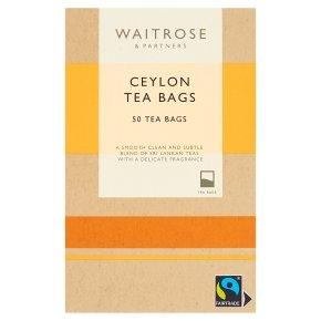 Waitrose Ceylon- 50 tea bags