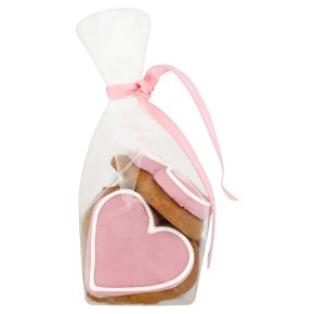 Image on Food mini pink heart gingerbreads