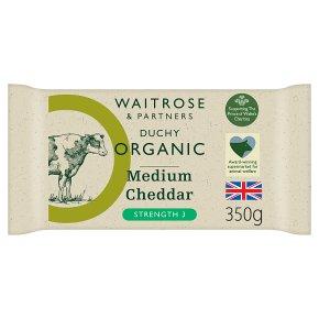 Waitrose Duchy Medium Cheddar Strength 3