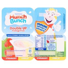 Munch Bunch double up strawberry & vanilla