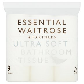 essential Waitrose White Ultra Soft Bathroom Tissue