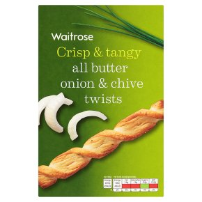 Waitrose chive & onion twists