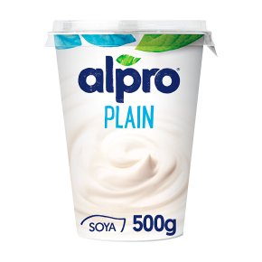 Alpro Soya simply plain plant-based alternative to yogurt