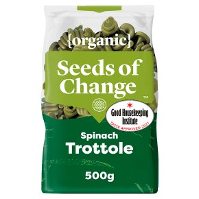 Seeds of Change pasta spinach trottole