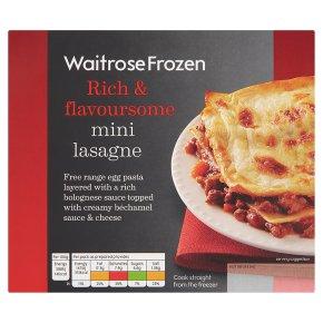 Waitrose Frozen beef lasagne