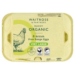 Waitrose Duchy Organic 6 very large British free range eggs