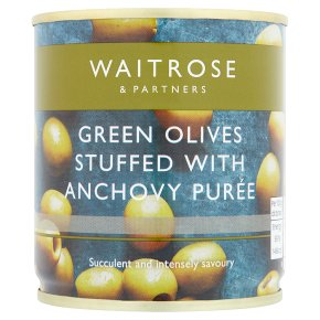 Waitrose Stuffed Green Olives/Anchovy