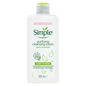 Simple Kind To Skin purifying cleansing lotion
