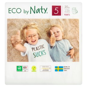 Nature Babycare Junior Nappy Pants 5, 12-18kg 20s