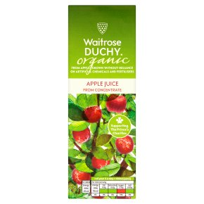 Waitrose Duchy Organic pure apple juice from concentrate