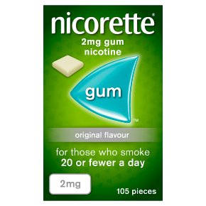 Nicorette original low strength chewing gum, 2mg