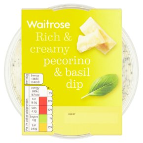 Waitrose pecorino and basil dip