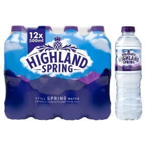 Highland Spring, spring still water, 12 pack