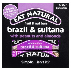 Eat Natural bars brazils sultanas almonds & hazelnuts
