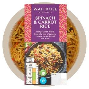 Waitrose spinach & carrot pilau rice