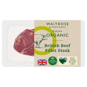 Waitrose Duchy Organic British beef fillet steak