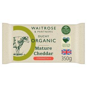 Waitrose Duchy Organic mature Cheddar cheese, strength 4