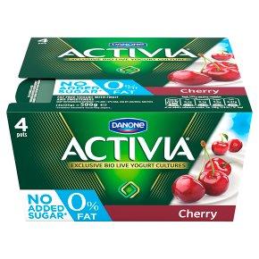 Activia fat free cherry yogurts