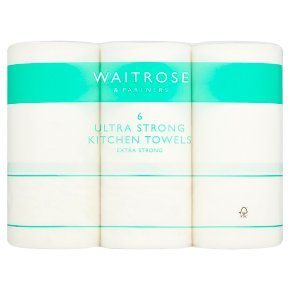 Waitrose Ultra Kitchen Towels White