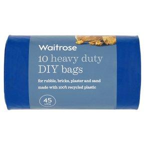 essential Waitrose heavy duty DIY bags, pack of 10