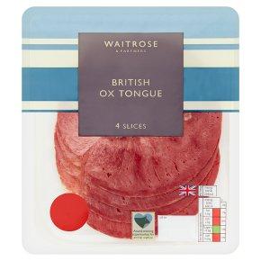 Waitrose British ox tongue, 4 slices