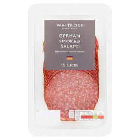Waitrose German smoked salami, 18 slices