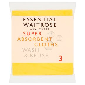 essential Waitrose super absorbent cloths