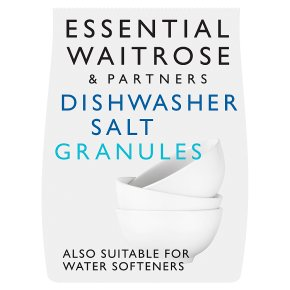 essential Waitrose dishwasher salt granules, 3kg