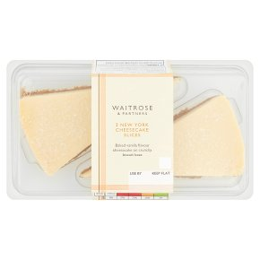 Waitrose 2 New York cheesecake slices