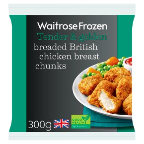 Waitrose Frozen British breaded chicken breast chunks