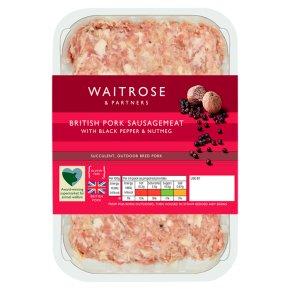 Waitrose British Gourmet Pork Sausagemeat Waitrose