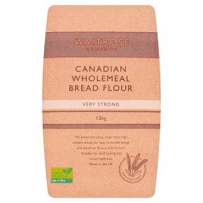Waitrose Canadian & strong stoneground wholemeal bread flour