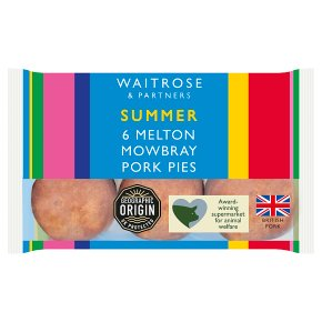 Waitrose 6 mini Melton Mowbray pork pies