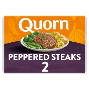Quorn peppered steaks