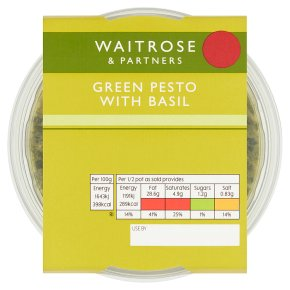 Waitrose green basil pesto