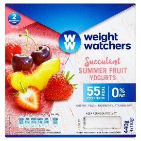 Weight Watchers Summer Fruit Yogurts
