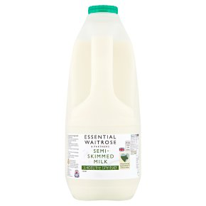 essential Waitrose semi-skimmed milk 1.7% fat 6 pints