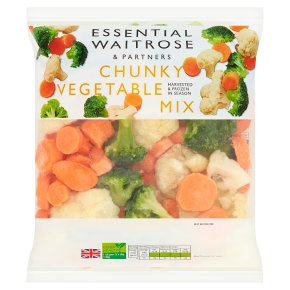 essential Waitrose chunky vegetable mix