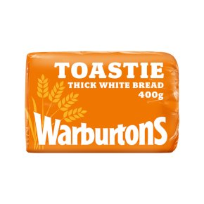 Warburtons thick sliced white toastie bread