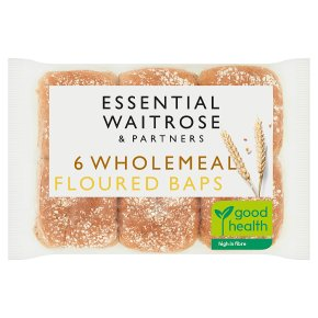 essential Waitrose wholemeal baps