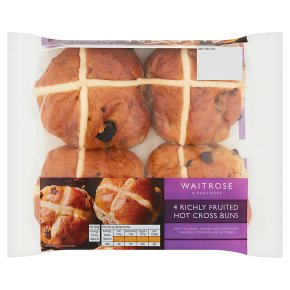 Waitrose Richly Fruited Hot Cross Buns