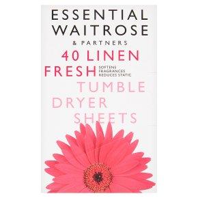 essential Waitrose fresh tumble dryer sheets