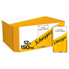 Schweppes, slimline, tonic water, 12 multipack cans
