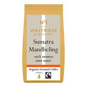 Waitrose 1 Fairtrade Sumatra Mandheling Ground Coffee