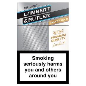 Lambert & Butler gold cigarettes