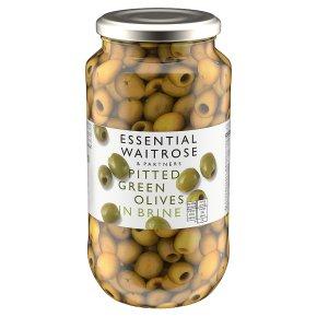 Waitrose Spanish pitted green olives