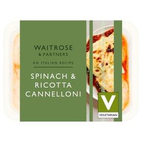 Waitrose Italian Spinach & Ricotta Cannelloni
