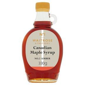 Waitrose 1 canadian maple syrup - amber No. 2