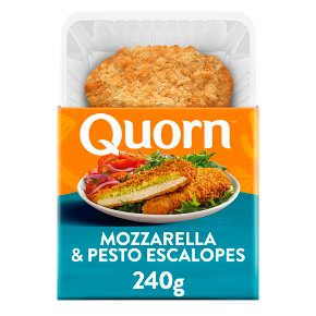 Quorn mozzarella & pesto escalopes