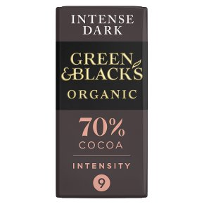 Green & Black's organic 70% dark chocolate bar